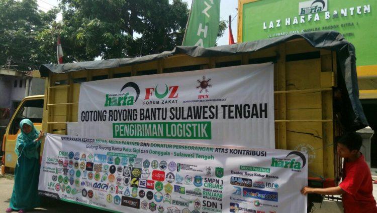 LAZ Harfa Banten Bersinergi Bersama FOZ dan IPCN Bantu Bencana Palu